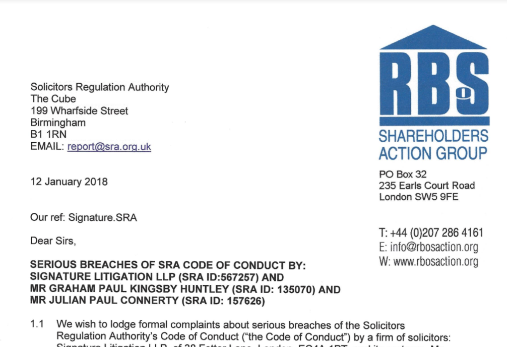 SRA Complaint